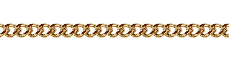 Seamless golden metal chain