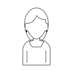 Woman faceless avatar