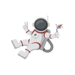 Astronaut isolated on white background