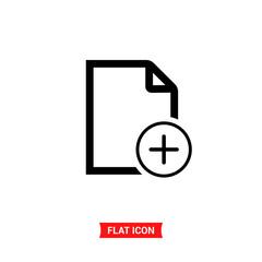 File vector icon, document symbol