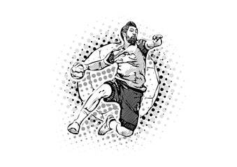 men´s handball vector illustration