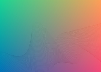 Gradient background Design element Wave many parallel lines16