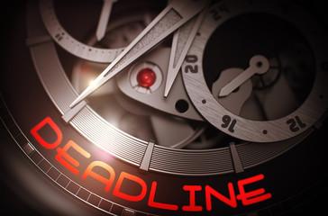 Deadline on Automatic Wrist Watch Mechanism. 3D.