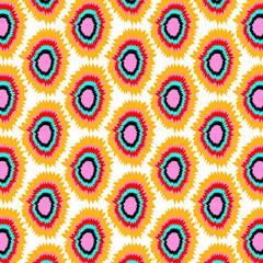 Geometric Ikat pattern