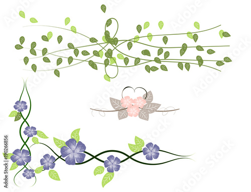Vector spring flower borders stock image and royalty free vector vector spring flower borders mightylinksfo
