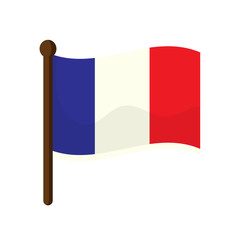 France flag isolated on white background. Vector stock.