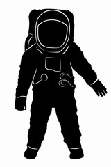 silhouette of astronaut, vector drawing