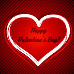 Valentine's day heart vector illustration