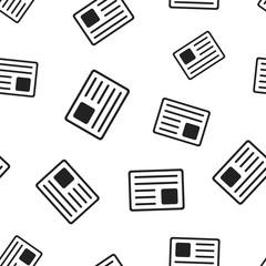 Newspaper, news seamless pattern background. Business concept vector illustration. News symbol pattern.