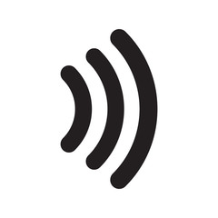 Contactless signal icon vector illustration. Free royalty images.