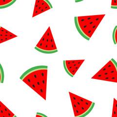 Watermelon fruit seamless pattern background. Business concept vector illustration. Ripe fruit symbol pattern.