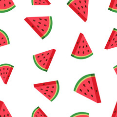 Watermelon fruit seamless pattern background. Business concept vector illustration. Ripe fruit symbol pattern.