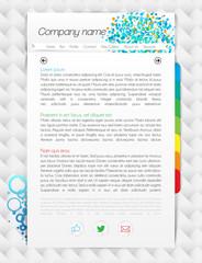 Modern one-page website, vector illustration