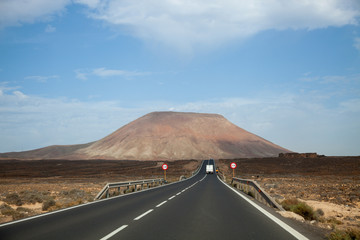 A highway in the Canary Islands