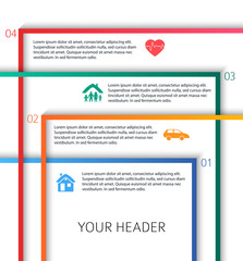 Modern Design style infographic template different kinds of insurance37