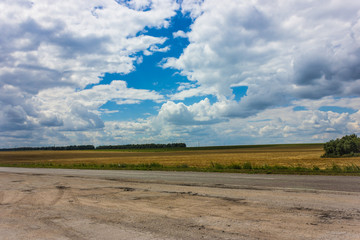 Driving through the steppe part of Ukraine, you can observe wide fields and meadows