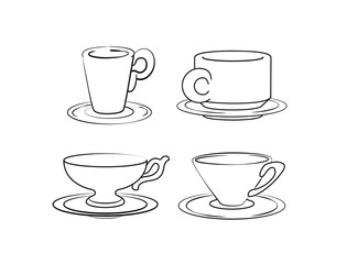 Coffee logo collection. Vector illustration.