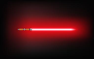 Light saber sword fight. Vector illustration.