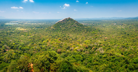 Beautiful view from Sigiriya - Lion Rock on Pidurangala hill, Sri lanka