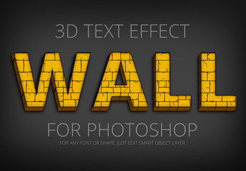 Yellow Brick Wall Text Effect 1