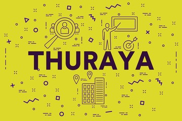 Conceptual business illustration with the words thuraya