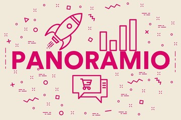Conceptual business illustration with the words panoramio