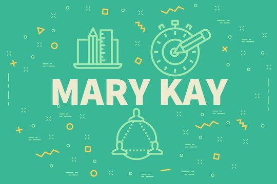 Conceptual business illustration with the words mary kay