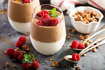 Healthy layered dessert