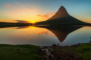 Iceland Midnight sun set