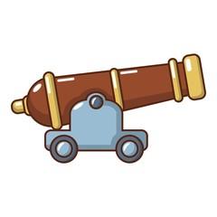 Cannon icon, cartoon style.