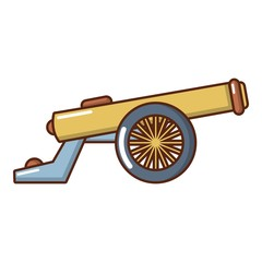 Shooting gun icon, cartoon style.
