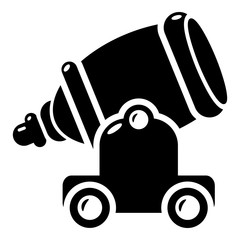 Ancient cannon icon, simple style.