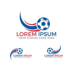 Football sport logo.