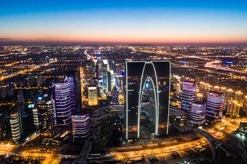 The big city sunset