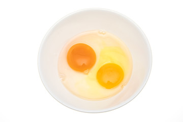 Duck egg yolk and hen egg yolk