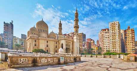 Printed kitchen splashbacks Egypt Sidi Yaqut al-Arshi mosque in Alexandria, Egypt