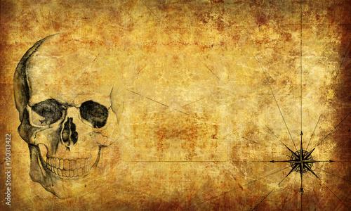 Pirate Map Wallpaper Texture 3d Rendering Fotos De