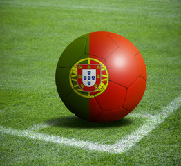 Soccer ball ball with the national flag of PORTUGAL ball with stadium