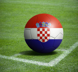 Soccer ball ball with the national flag of CROATIA ball with stadium