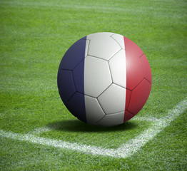 Soccer ball ball with the national flag of FRANCE ball with stadium