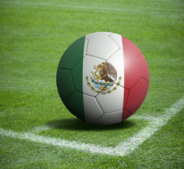 Soccer ball ball with the national flag of MEXICO ball with stadium