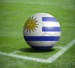 Soccer ball ball with the national flag of URUGUAY ball with stadium