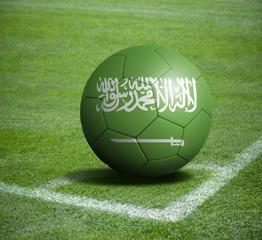 Soccer ball ball with the national flag of SAUDI ARABIA ball with stadium