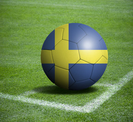 Soccer ball ball with the national flag of SWEDEN ball with stadium