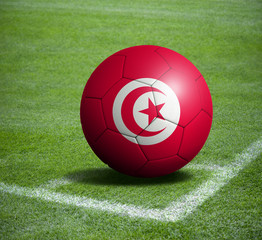 Soccer ball ball with the national flag of TUNISIA ball with stadium