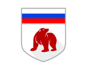 russia bear shield grizzly polar beast animal fauna image vector icon logo silhouette
