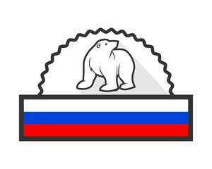 russia bear emblem grizzly polar beast animal fauna image vector icon logo silhouette