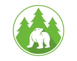 forest bear grizzly polar beast animal fauna image vector icon logo silhouette