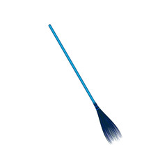 Vintage broom in blue design