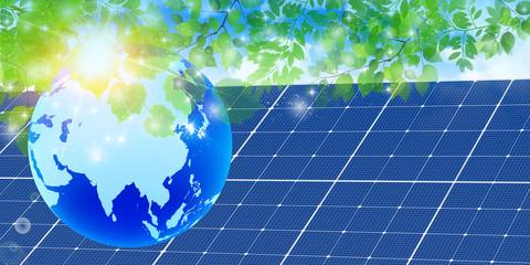 新緑 地球 ソーラー 背景
